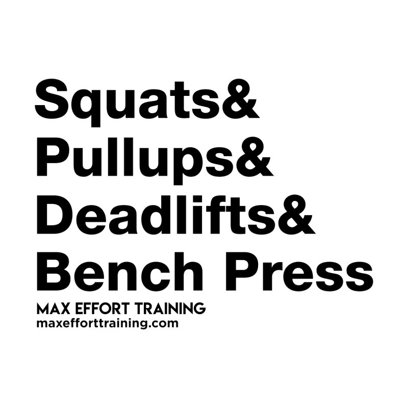 Squats And Accessories Magnet by Max Effort Training