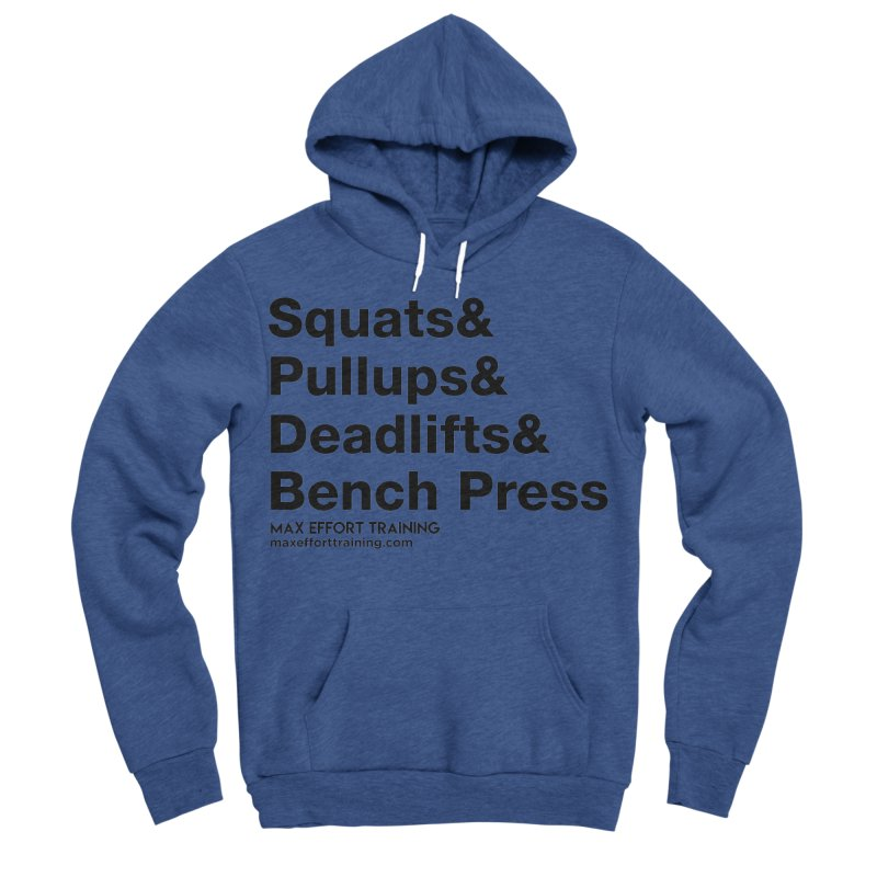 Squats And Women's Sponge Fleece Pullover Hoody by Max Effort Training