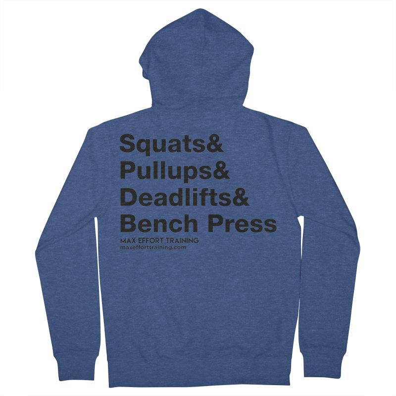 Squats And Men's French Terry Zip-Up Hoody by Max Effort Training