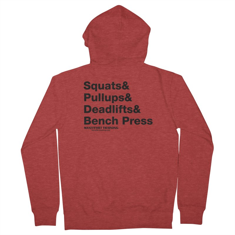Squats And Women's French Terry Zip-Up Hoody by Max Effort Training
