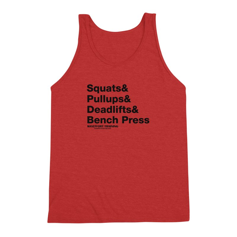 Squats And Men's Triblend Tank by Max Effort Training
