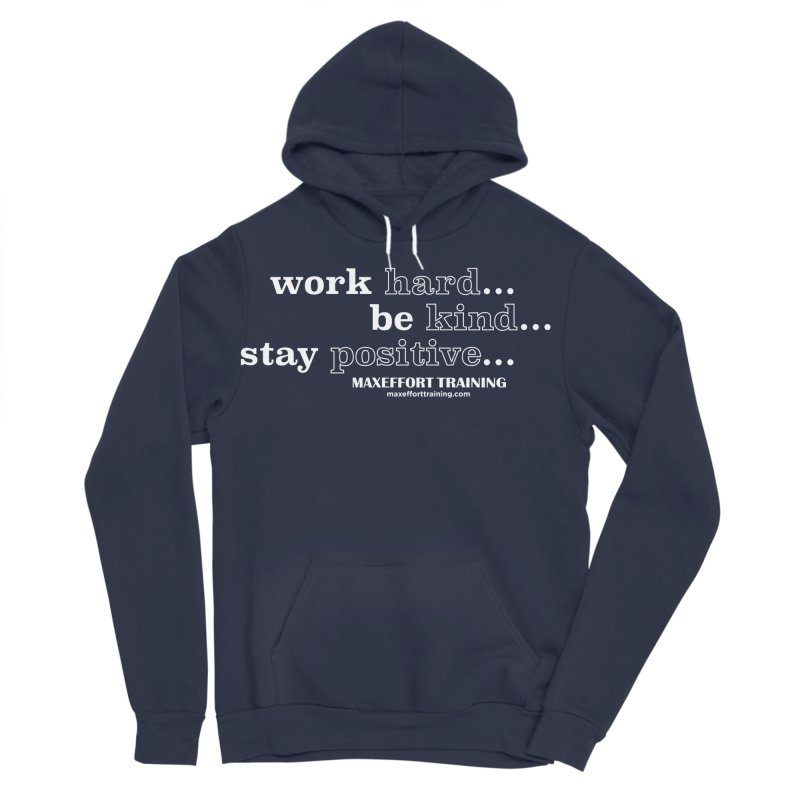 Work Hard Men's Sponge Fleece Pullover Hoody by Max Effort Training