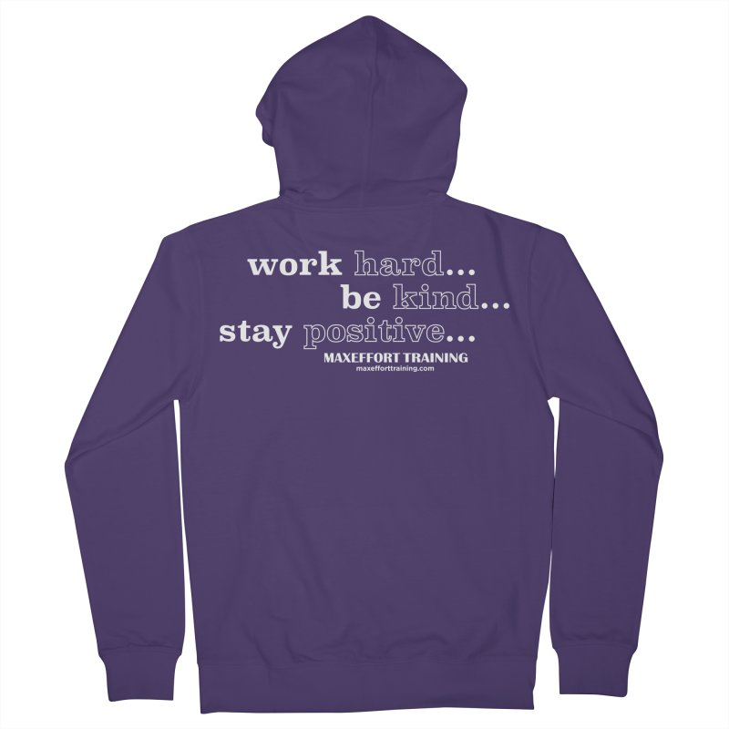 Work Hard Women's Zip-Up Hoody by Max Effort Training