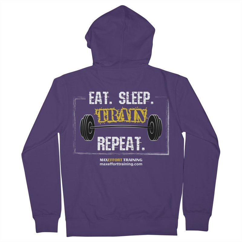 Eat. Sleep. Train. Repeat. Women's French Terry Zip-Up Hoody by Max Effort Training