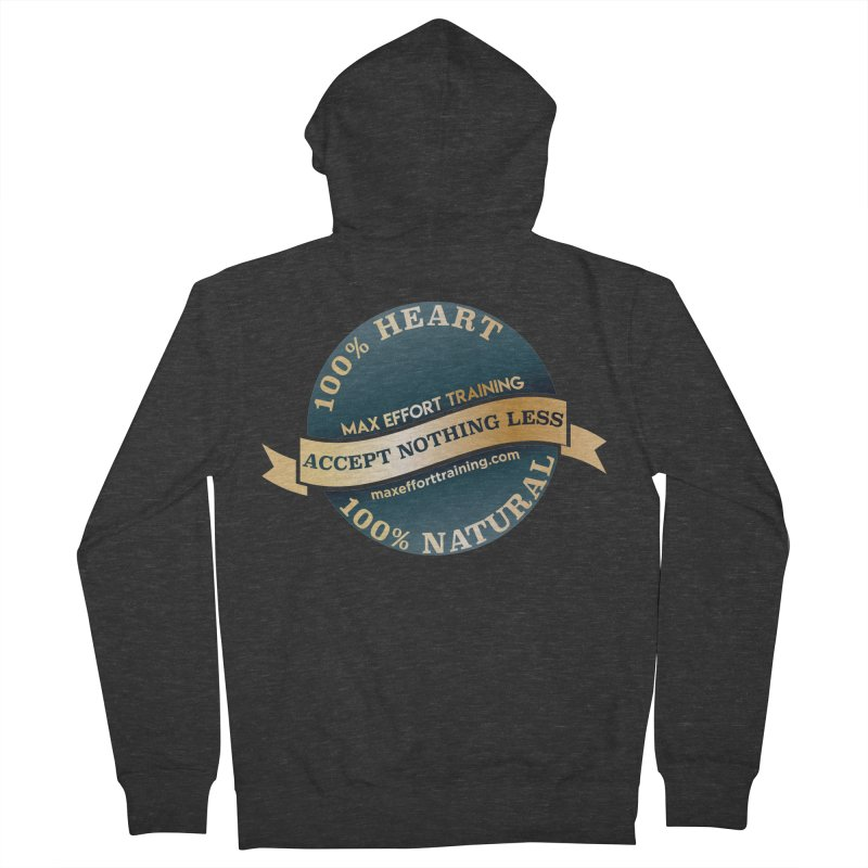 Accept Nothing Less Men's French Terry Zip-Up Hoody by Max Effort Training
