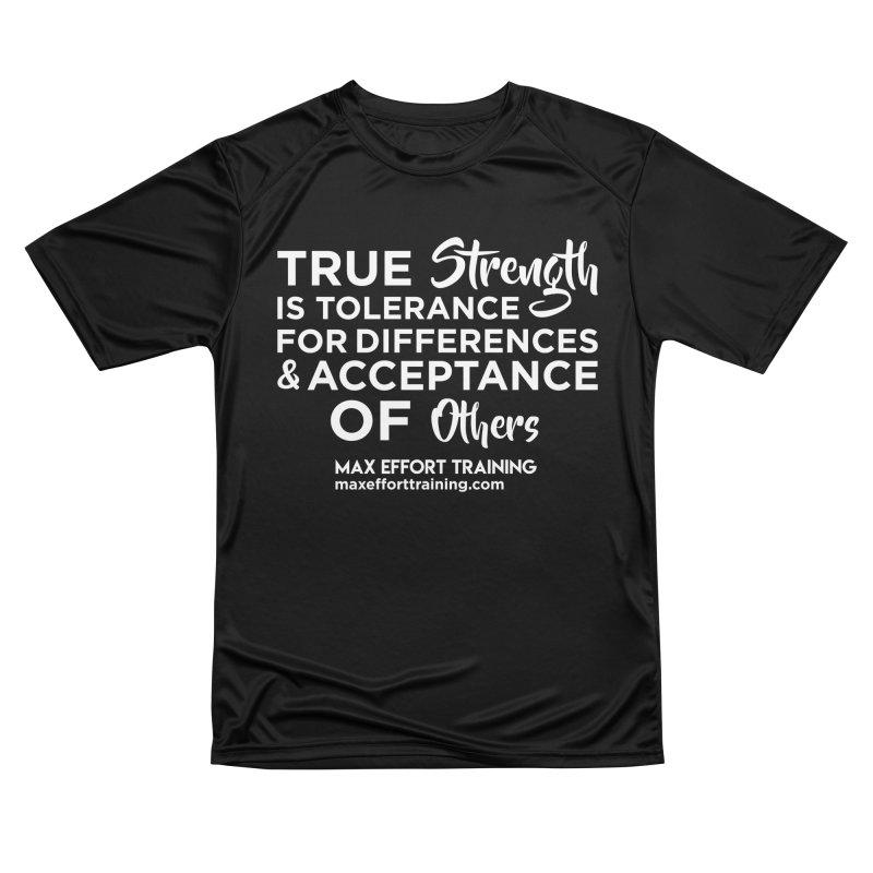 True Strength (White) Women's T-Shirt by Max Effort Training