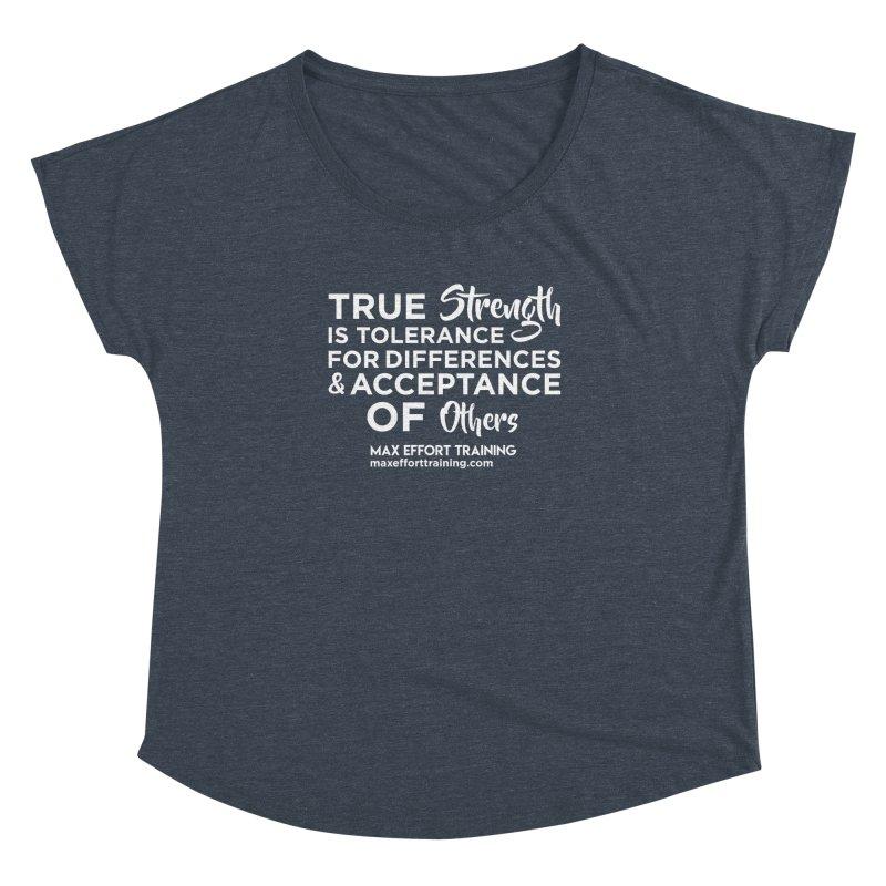 True Strength (White) Women's Dolman Scoop Neck by Max Effort Training