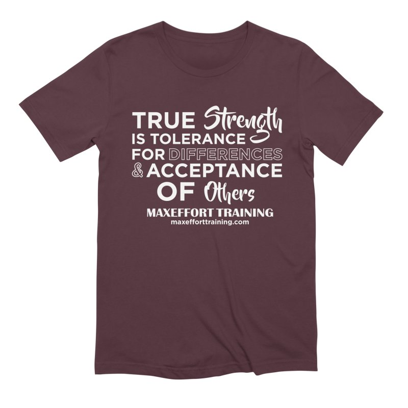 True Strength (White) Men's Extra Soft T-Shirt by Max Effort Training
