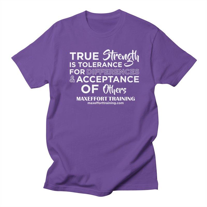 True Strength (White) Women's Regular Unisex T-Shirt by Max Effort Training