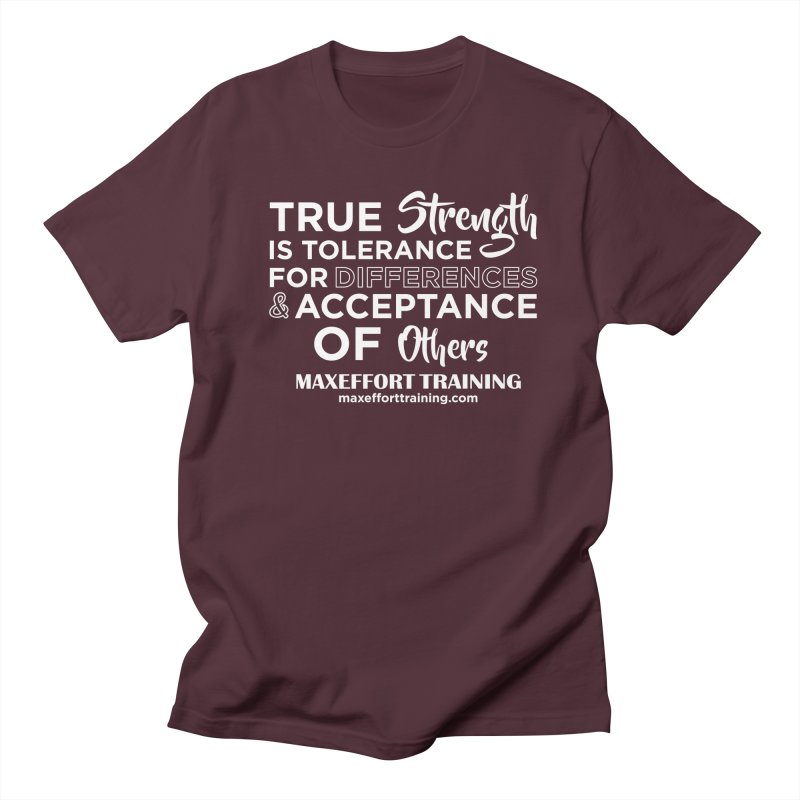 True Strength (White) Women's Regular Unisex T-Shirt by Max Effort Training
