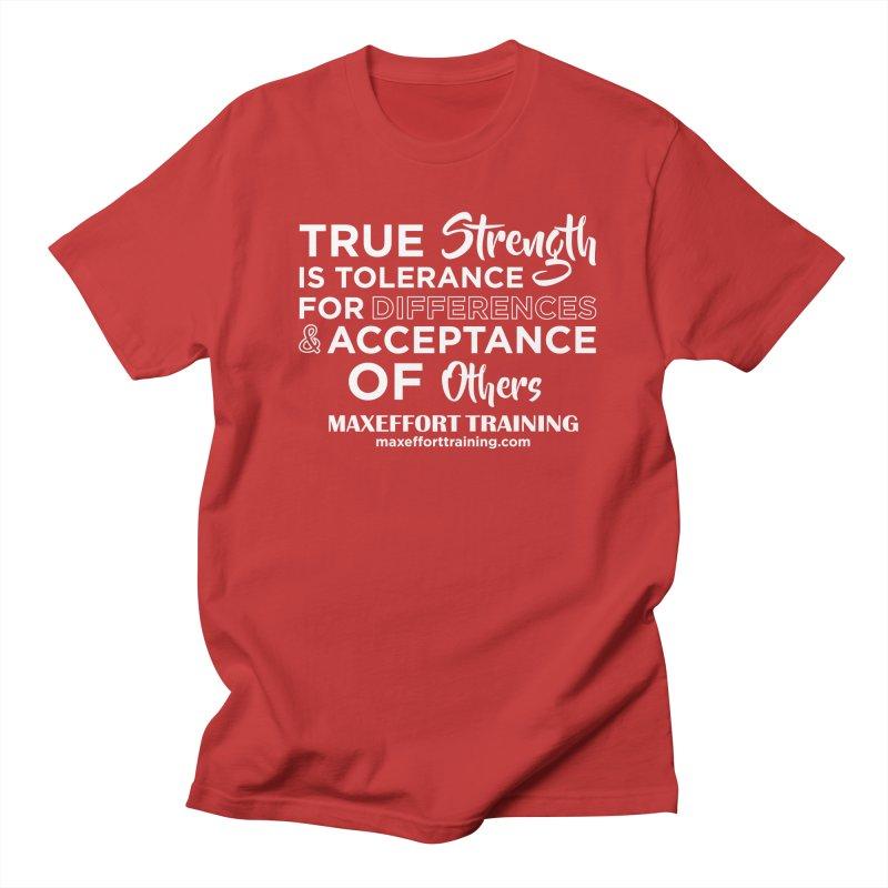 True Strength (White) Men's Regular T-Shirt by Max Effort Training