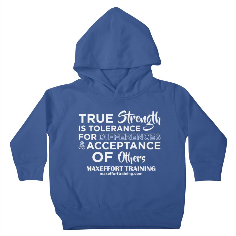True Strength (White) Kids Toddler Pullover Hoody by Max Effort Training