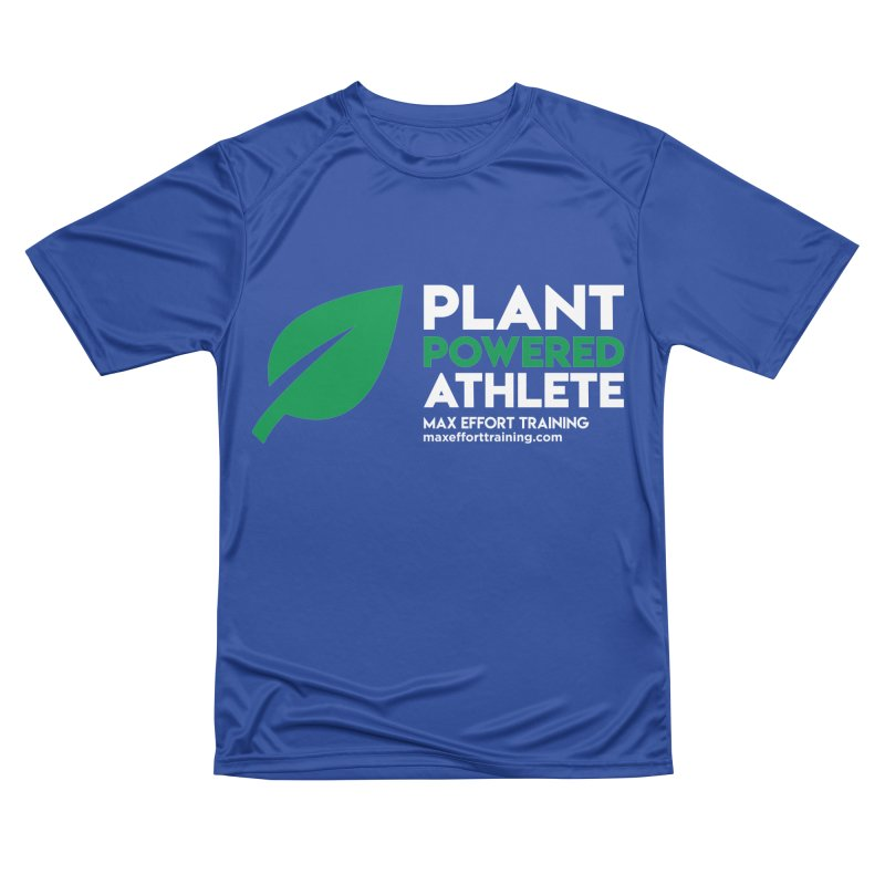 Plant Powered Athlete Men's Performance T-Shirt by Max Effort Training