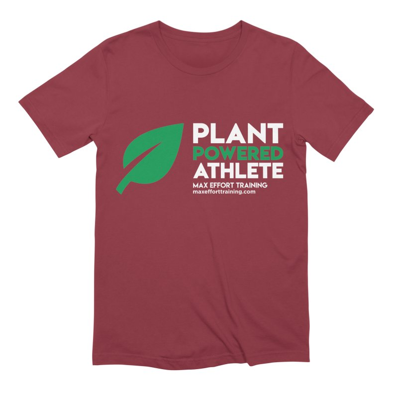 Plant Powered Athlete Men's Extra Soft T-Shirt by Max Effort Training