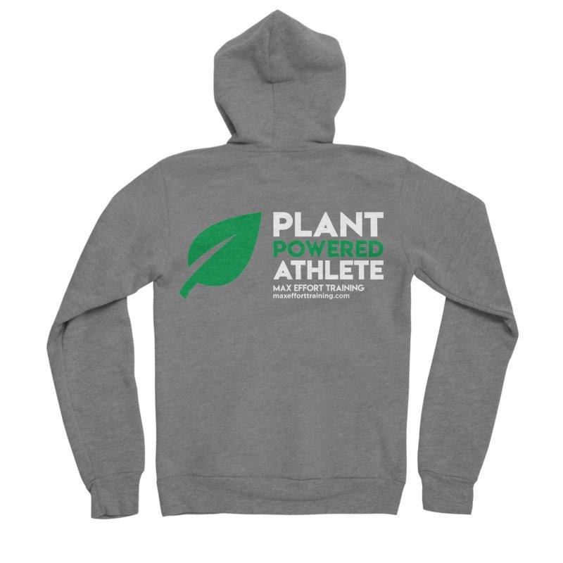 Plant Powered Athlete Men's Sponge Fleece Zip-Up Hoody by Max Effort Training
