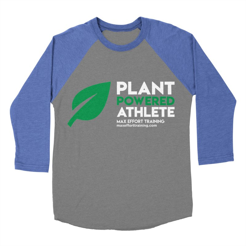 Plant Powered Athlete Women's Baseball Triblend Longsleeve T-Shirt by Max Effort Training