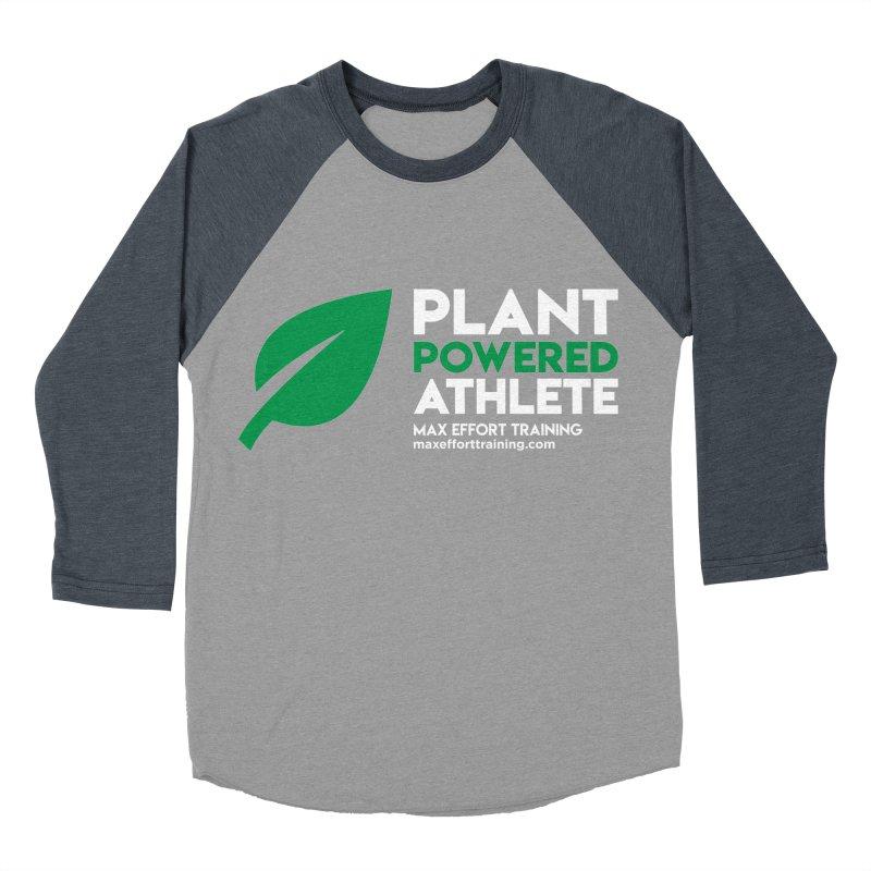 Plant Powered Athlete Women's Baseball Triblend Longsleeve T-Shirt by Max Effort Training