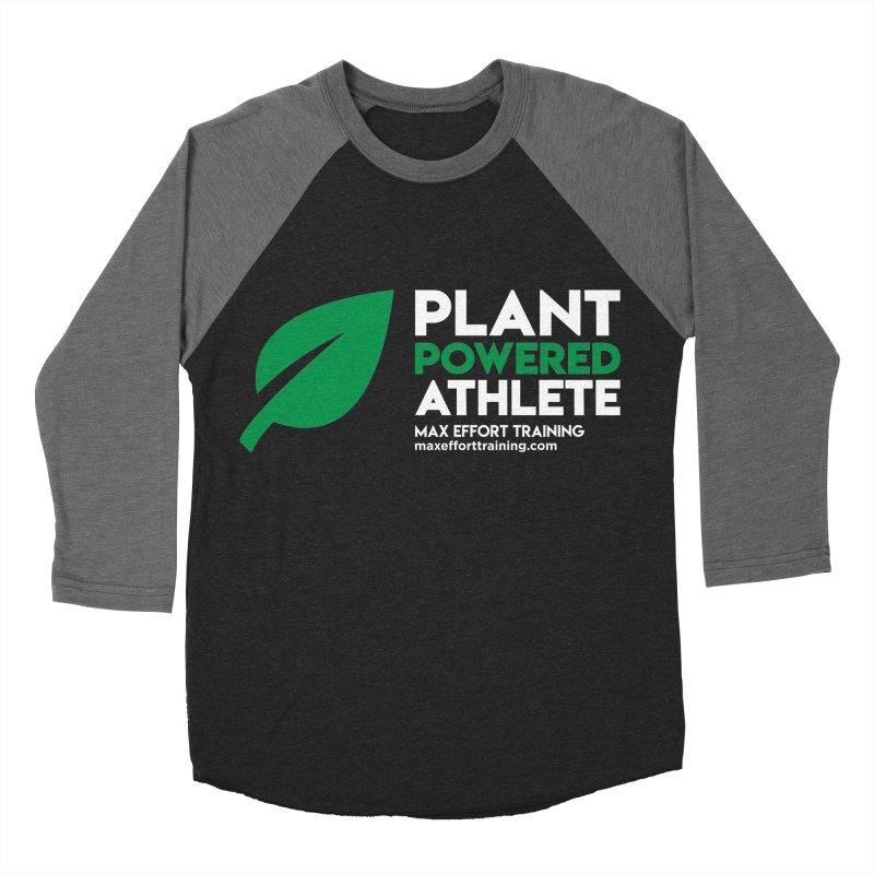 Plant Powered Athlete Men's Baseball Triblend Longsleeve T-Shirt by Max Effort Training