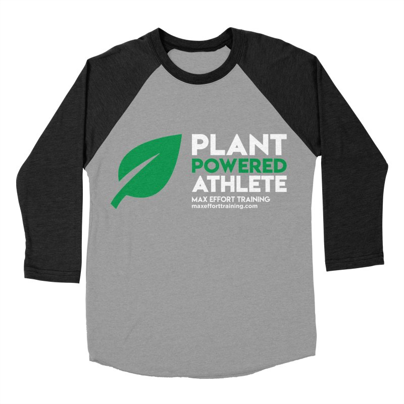 Plant Powered Athlete Men's Baseball Triblend Longsleeve T-Shirt by Max Effort Training