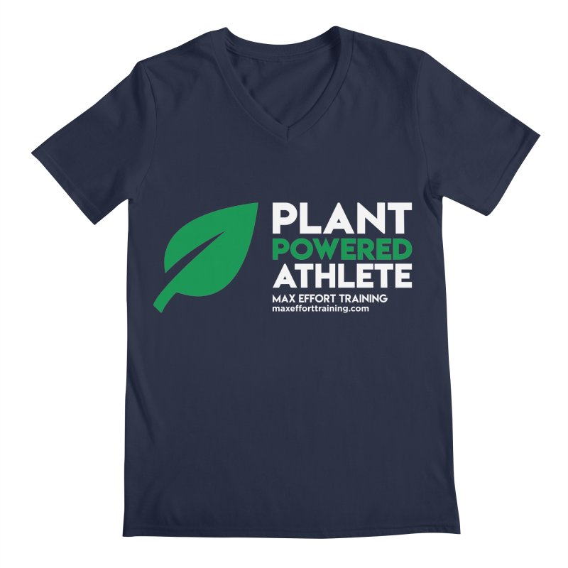 Plant Powered Athlete Men's Regular V-Neck by Max Effort Training