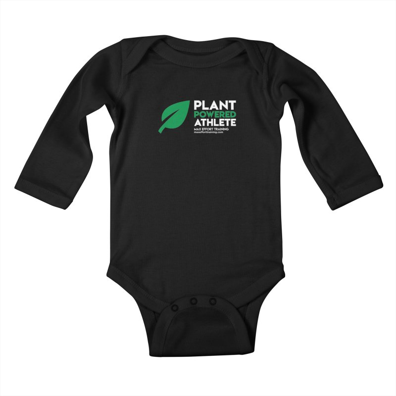 Plant Powered Athlete Kids Baby Longsleeve Bodysuit by Max Effort Training