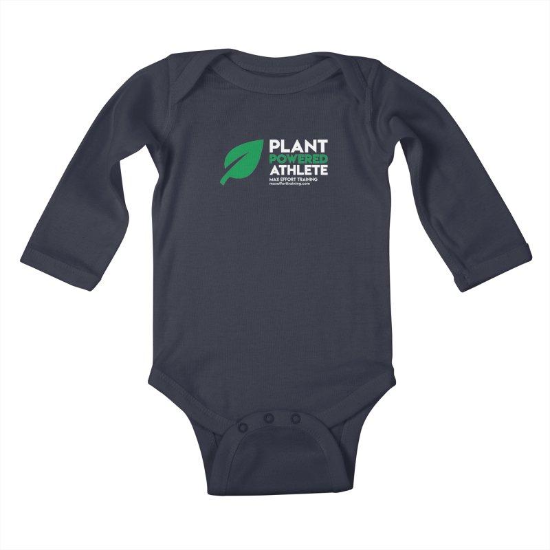 Plant Powered Athlete Kids Baby Longsleeve Bodysuit by Max Effort Training