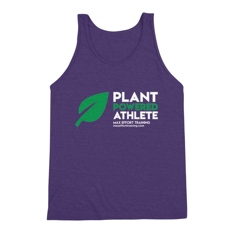 Plant Powered Athlete Men's Triblend Tank by Max Effort Training