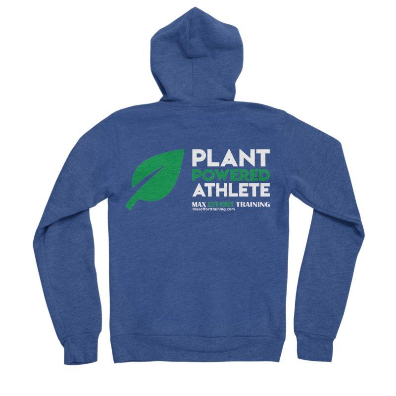 Plant Powered Athlete Women's Sponge Fleece Zip-Up Hoody by Max Effort Training