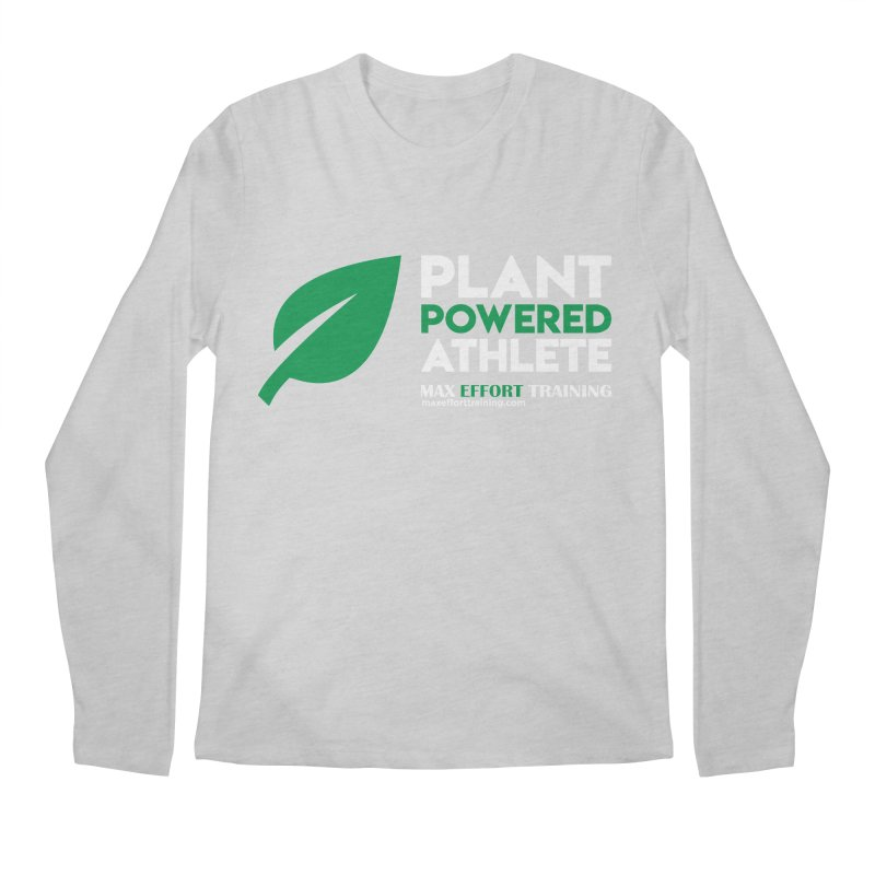 Plant Powered Athlete Men's Regular Longsleeve T-Shirt by Max Effort Training