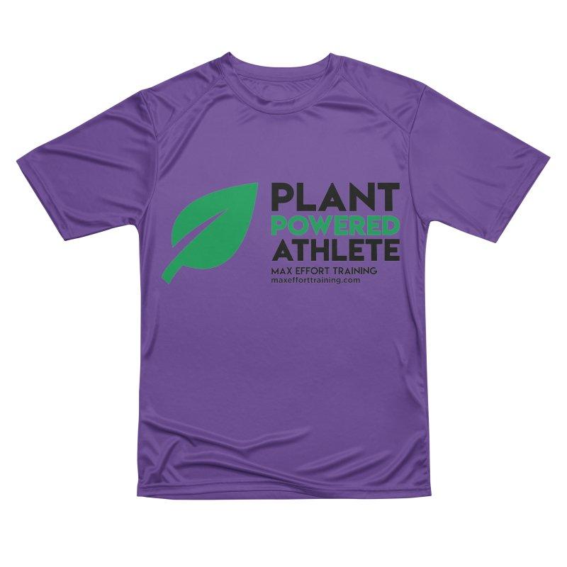 Plant Powered Athlete - Black Men's Performance T-Shirt by Max Effort Training
