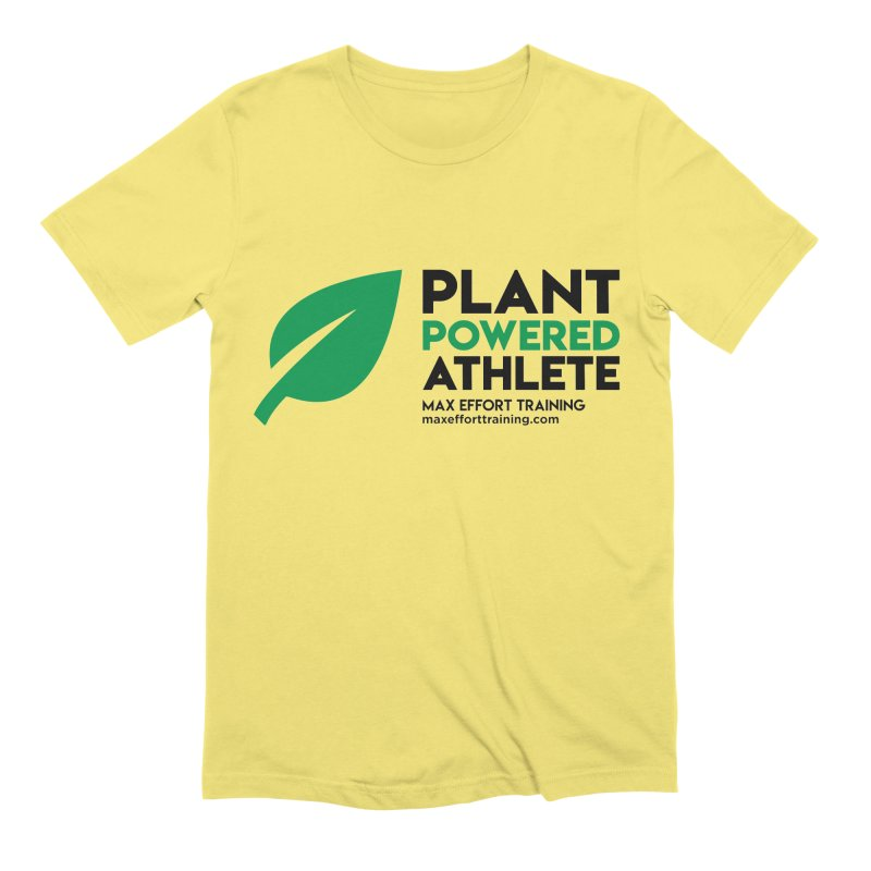Plant Powered Athlete - Black Men's T-Shirt by Max Effort Training