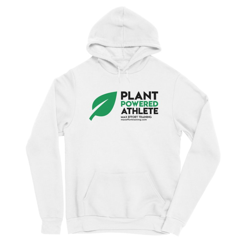 Plant Powered Athlete - Black Women's Pullover Hoody by Max Effort Training