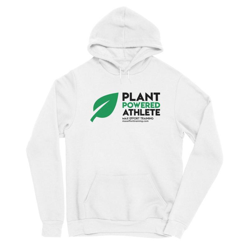 Plant Powered Athlete - Black Women's Sponge Fleece Pullover Hoody by Max Effort Training