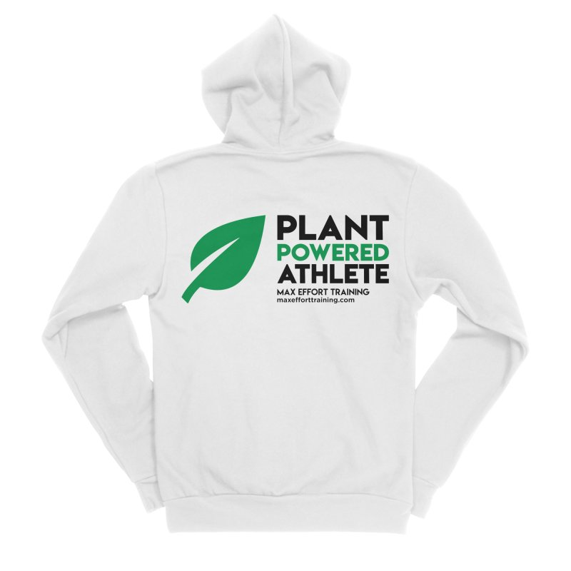 Plant Powered Athlete - Black Women's Sponge Fleece Zip-Up Hoody by Max Effort Training