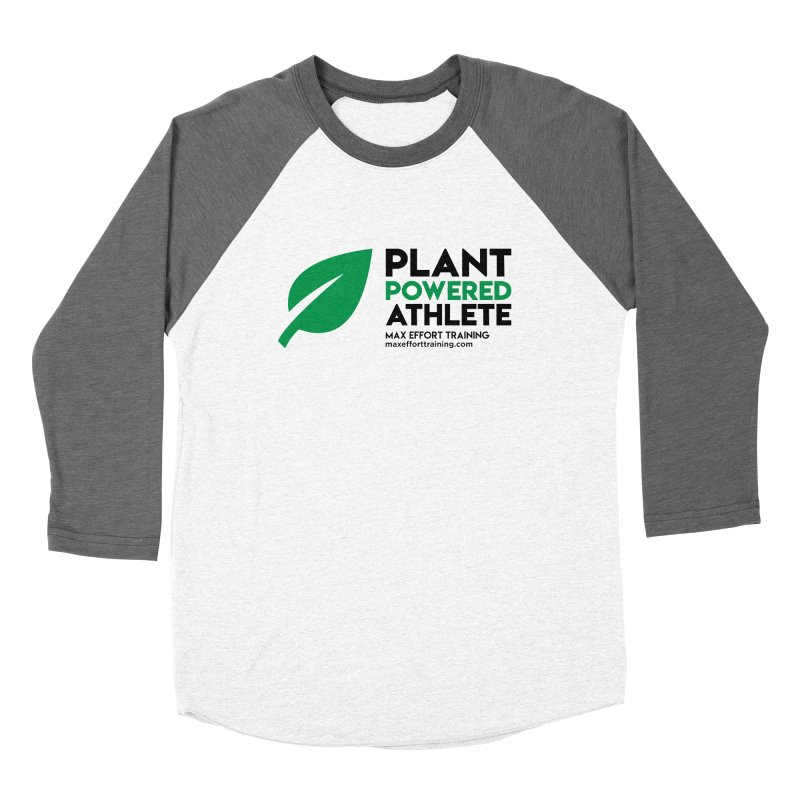 Plant Powered Athlete - Black Women's Longsleeve T-Shirt by Max Effort Training
