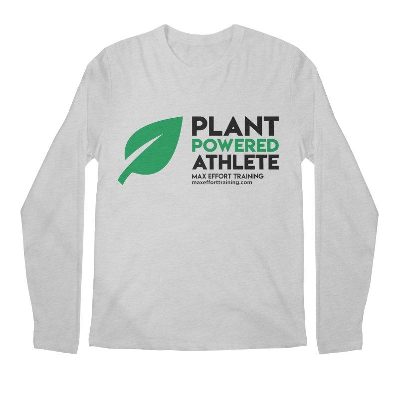 Plant Powered Athlete - Black Men's Regular Longsleeve T-Shirt by Max Effort Training