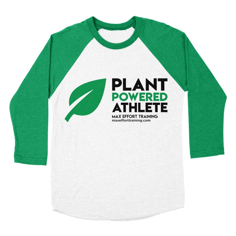 Plant Powered Athlete - Black Men's Baseball Triblend Longsleeve T-Shirt by Max Effort Training