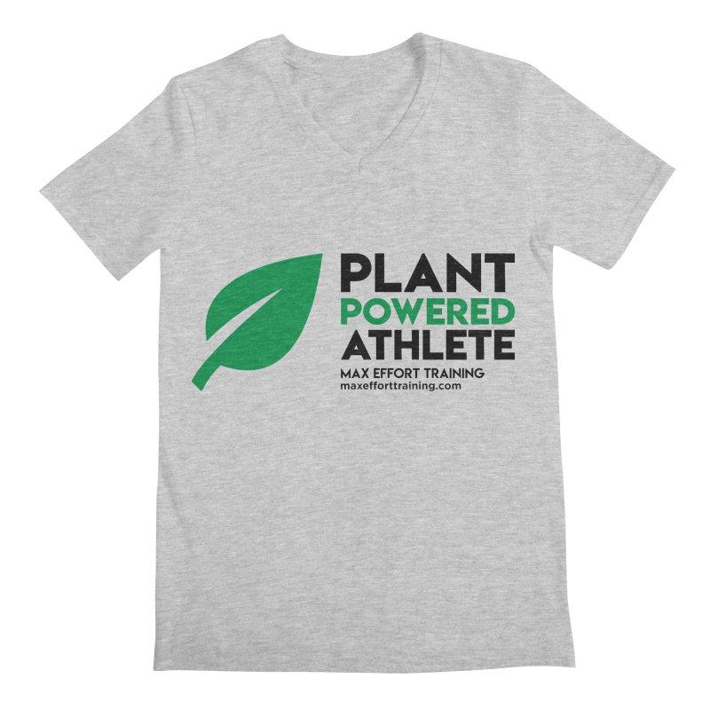 Plant Powered Athlete - Black Men's Regular V-Neck by Max Effort Training