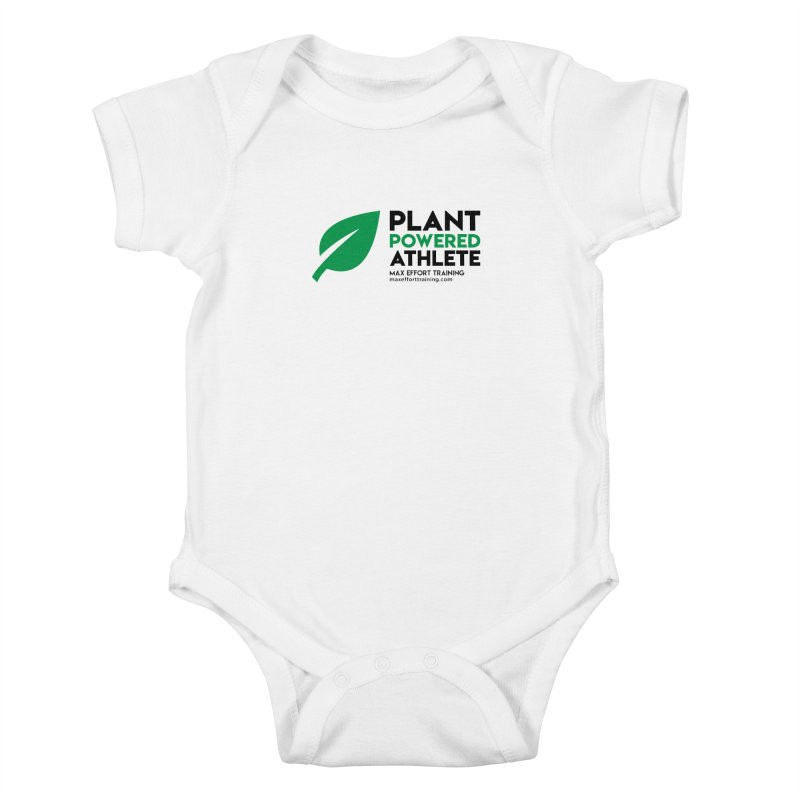 Plant Powered Athlete - Black Kids Baby Bodysuit by Max Effort Training