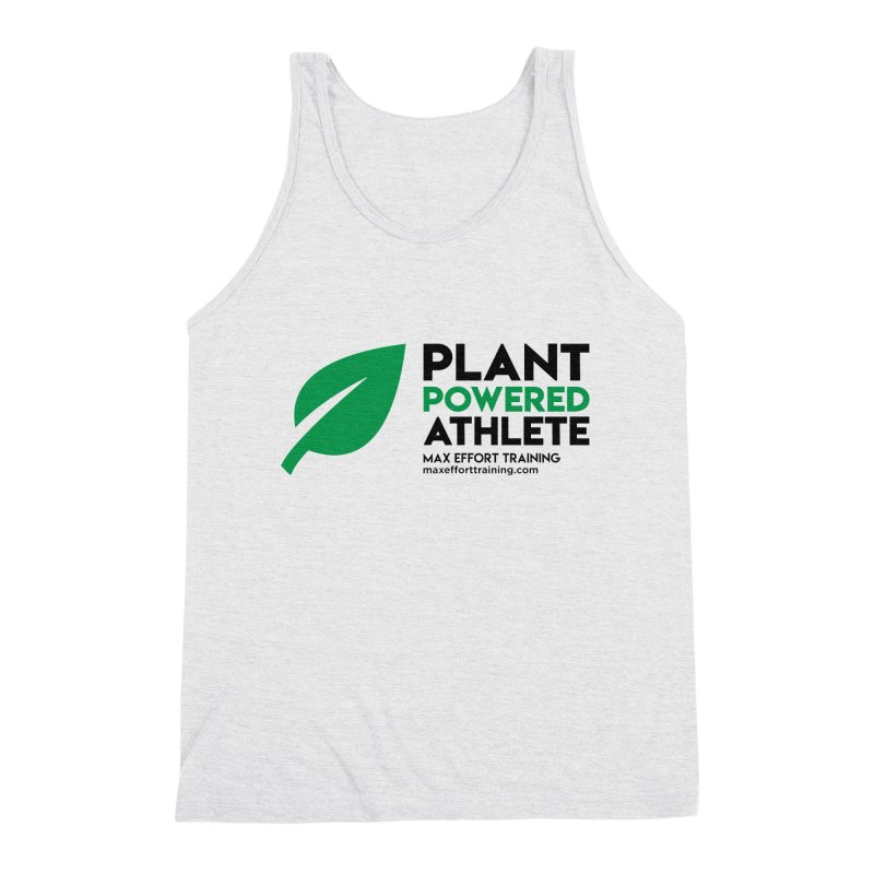 Plant Powered Athlete - Black Men's Triblend Tank by Max Effort Training