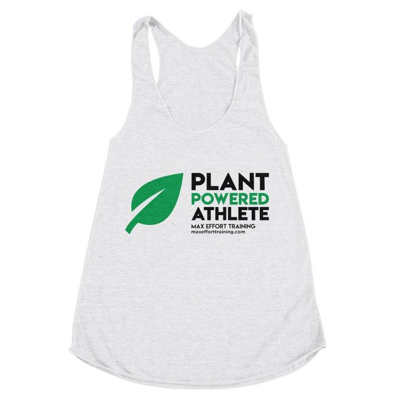 Plant Powered Athlete - Black Women's Racerback Triblend Tank by Max Effort Training