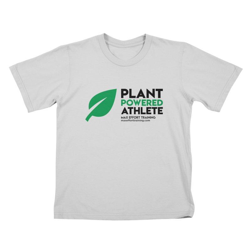 Plant Powered Athlete - Black Kids T-Shirt by Max Effort Training