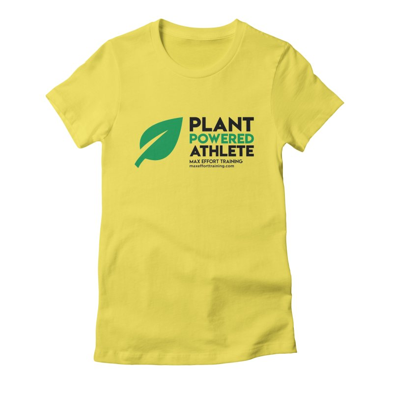 Plant Powered Athlete - Black Women's T-Shirt by Max Effort Training