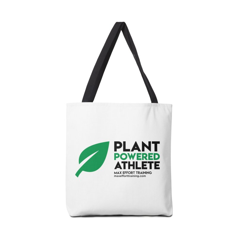 Plant Powered Athlete - Black Accessories Tote Bag Bag by Max Effort Training