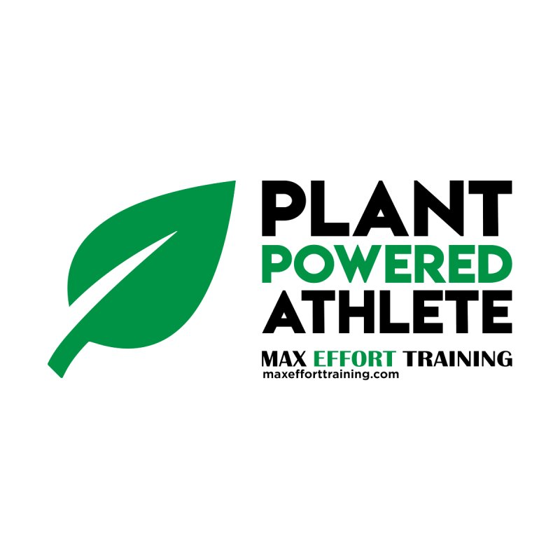 Plant Powered Athlete - Black Men's Longsleeve T-Shirt by Max Effort Training