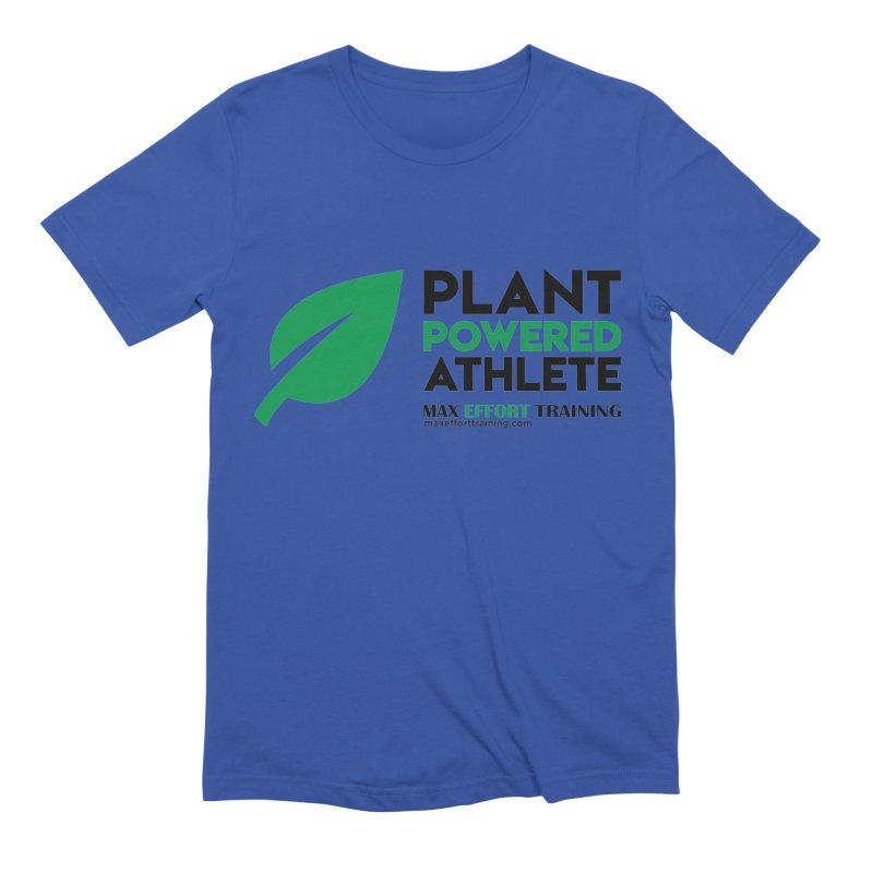 Plant Powered Athlete - Black Men's Extra Soft T-Shirt by Max Effort Training