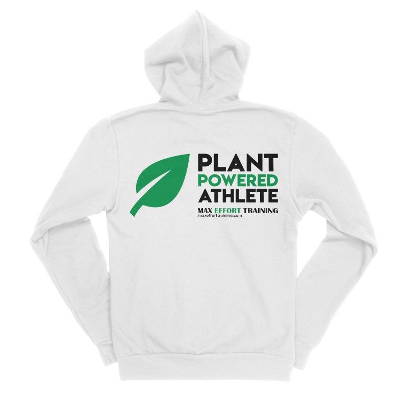 Plant Powered Athlete - Black Women's Sponge Fleece Zip-Up Hoody by Max Effort Training