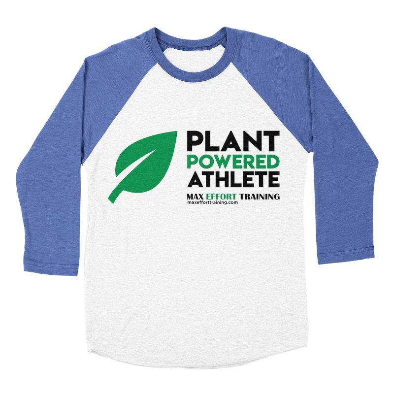 Plant Powered Athlete - Black Women's Baseball Triblend Longsleeve T-Shirt by Max Effort Training