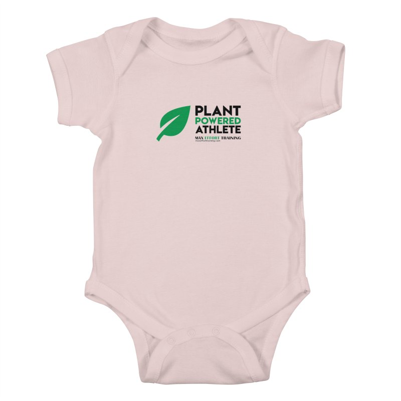 Plant Powered Athlete - Black Kids Baby Bodysuit by Max Effort Training