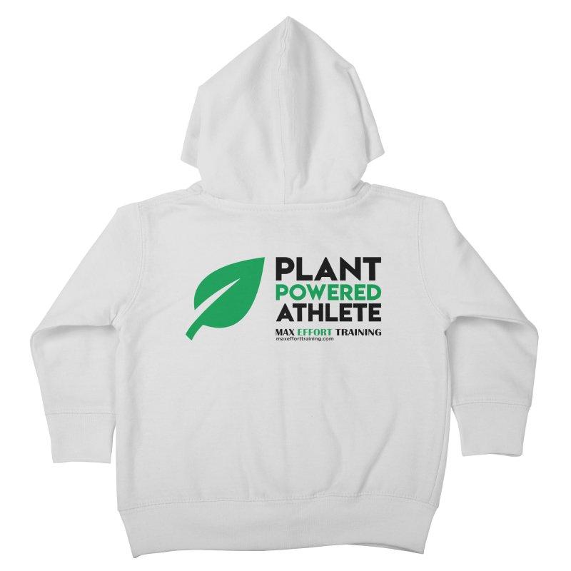 Plant Powered Athlete - Black Kids Toddler Zip-Up Hoody by Max Effort Training